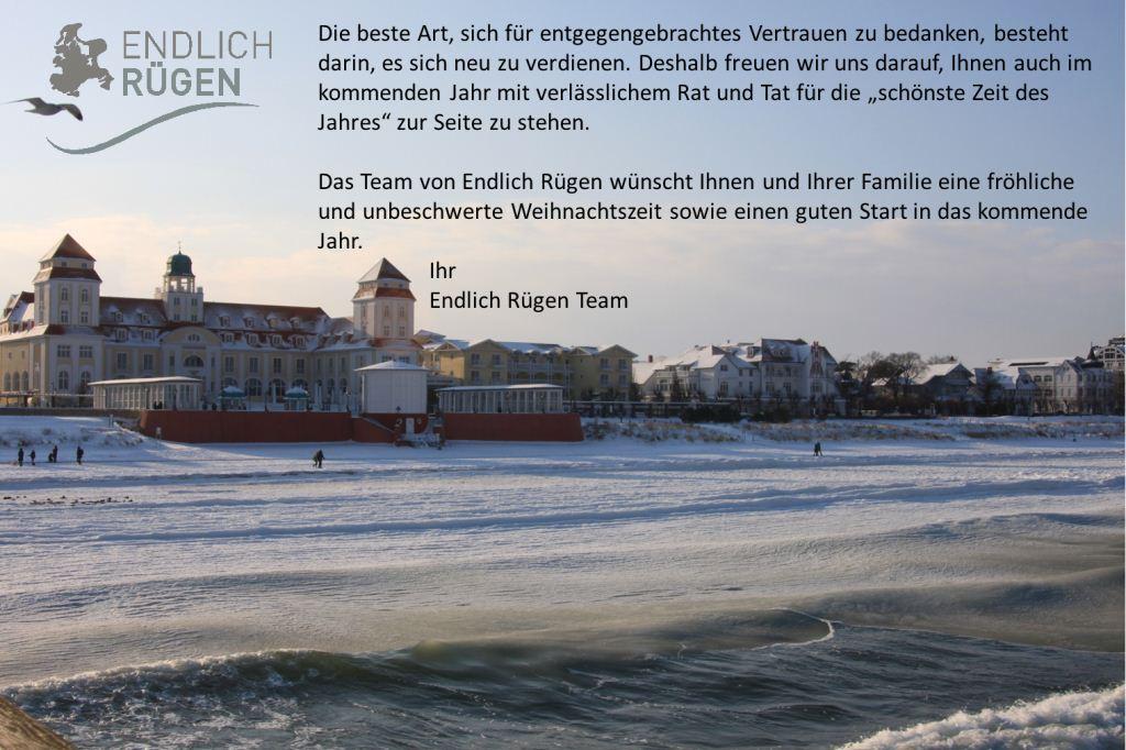 Frohe Weihnachten und einen guten Rutsch wünscht das Endllich Rügen Team